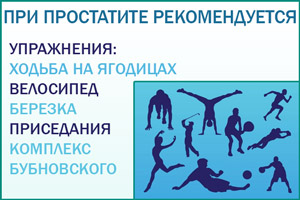 Простатит: виды упражнений