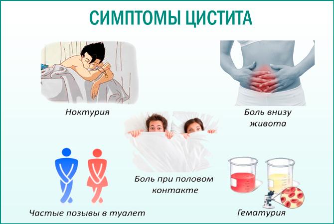 Цистит: симптомы