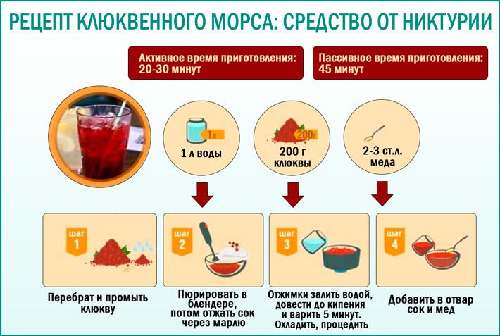 Клюквенный морс: полезный рецепт морса из клюквы