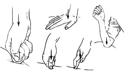 методика точечного массажа