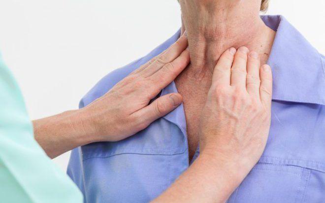Увеличения размеров щитовидки
