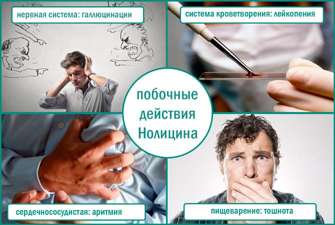 Голицин: негативные эффекты