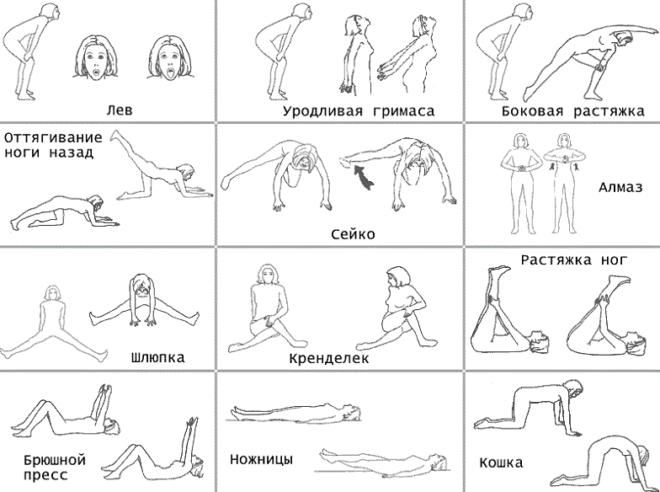 Комплекс упражнений бодифлекс в картинках