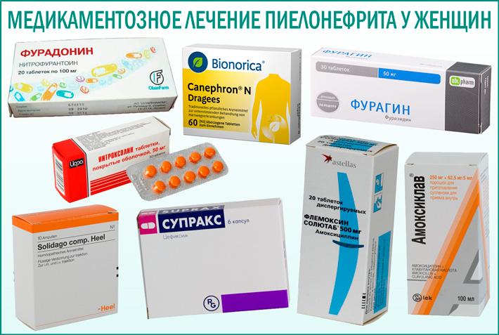 Пиелонефрит: медикаментозное лечение у женщин