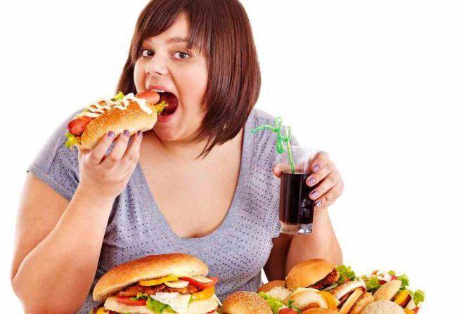 Употребление вредных продуктов