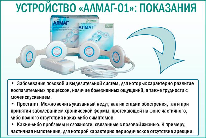 Показания к применению устройства «Алмаг-01»