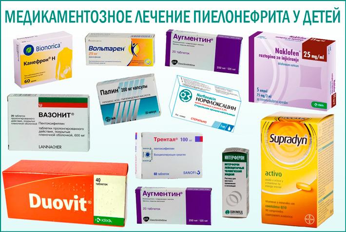 Пиелонефрит у детей: медикаментозное лечение болезни