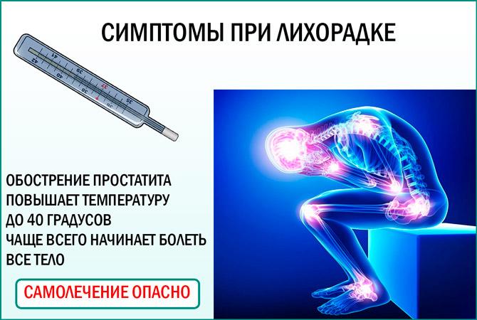 Может ли простатит вызывать температуру прибор простатита витафоном