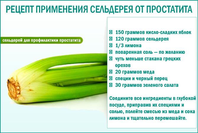 Корень сельдерея от простатита: рецепт