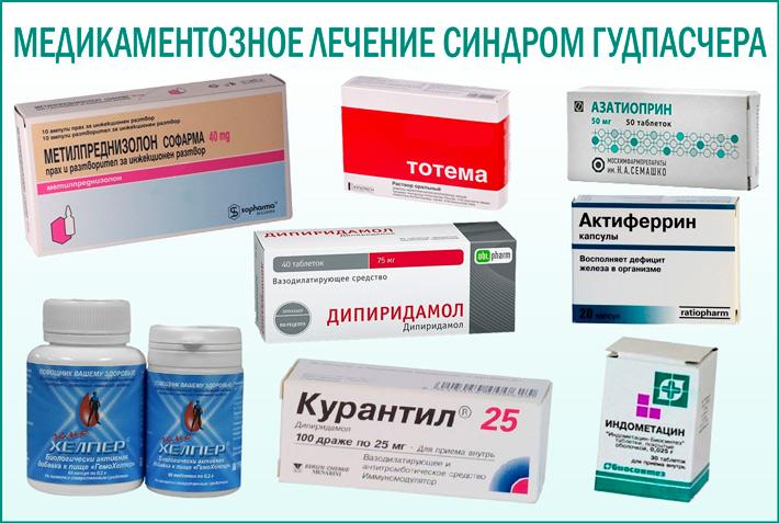 Синдром Гудпасчера: медикаментозное лечение