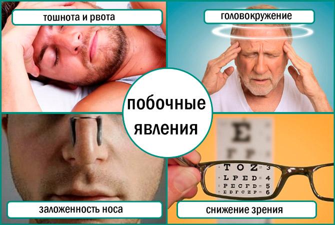 Побочные явления Виагры