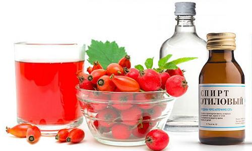 Ингредиенты для настойки боярышника