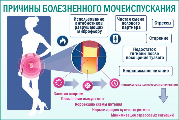 Болезненное мочеиспускание у женщин: причины