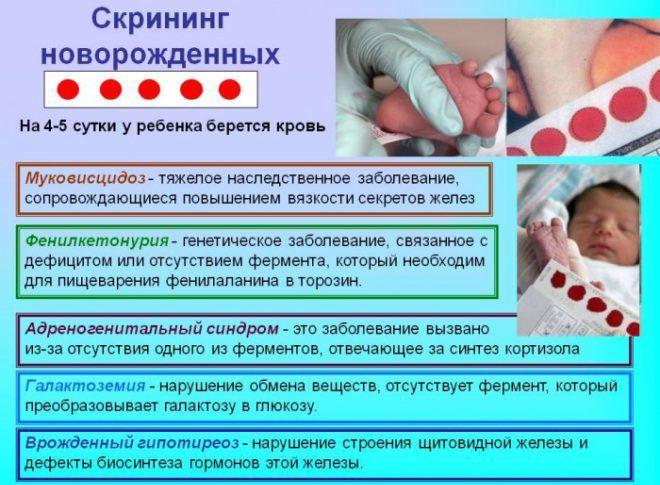 Скрининг позволяет выявить скрытые проблемы со здоровьем у новорожденного
