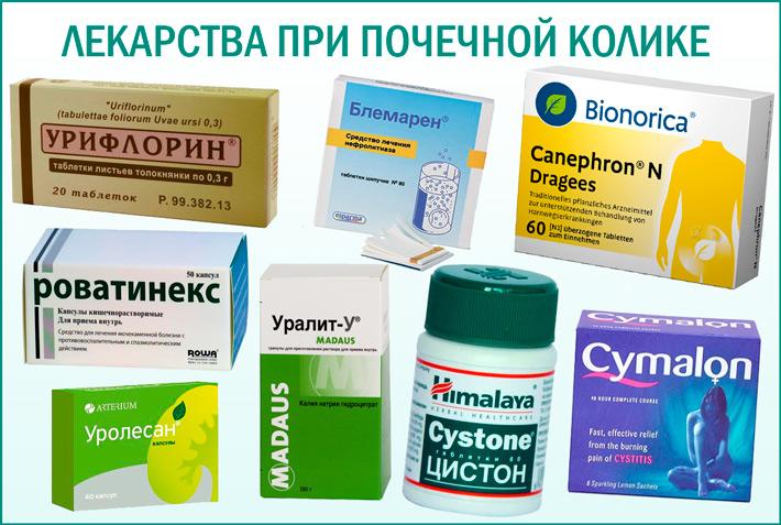 Почечная колика: лекарства