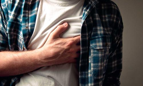 болезненное ощущение в грудной области