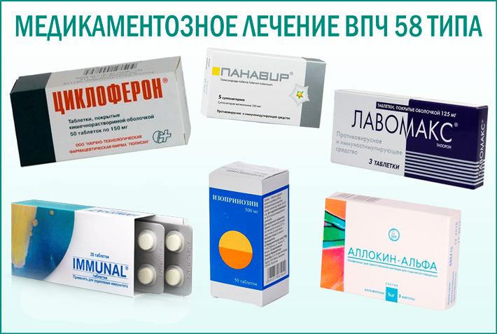ВПЧ 58 типа: препараты для лечения