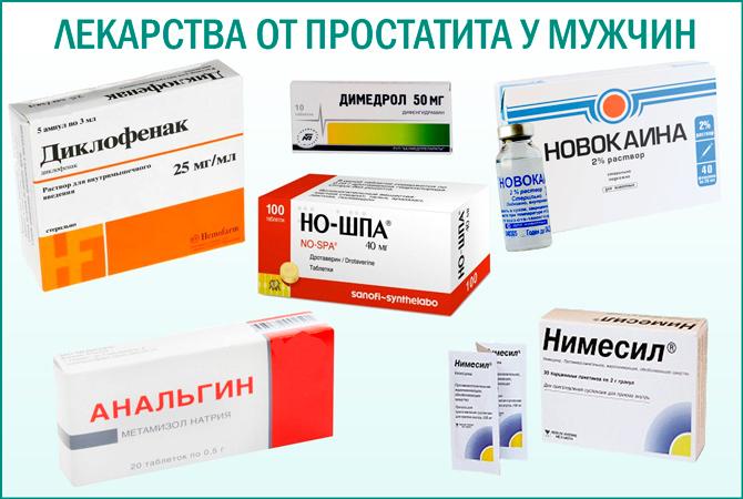 Таблетки от простатита: список лучших