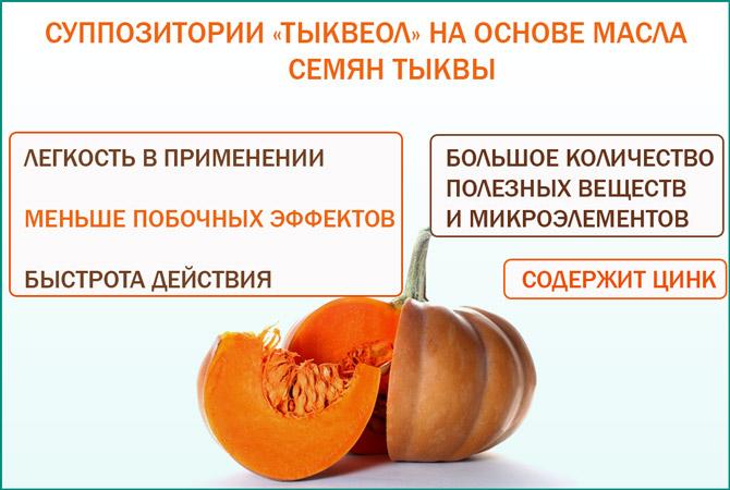 Суппозитории Тыквеол