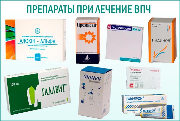 Таблетки для лечения ВПЧ