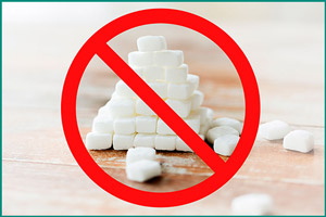 Запрещено употреблять сахар