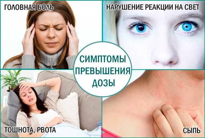 Превышение дозы Доксициклина симптомы
