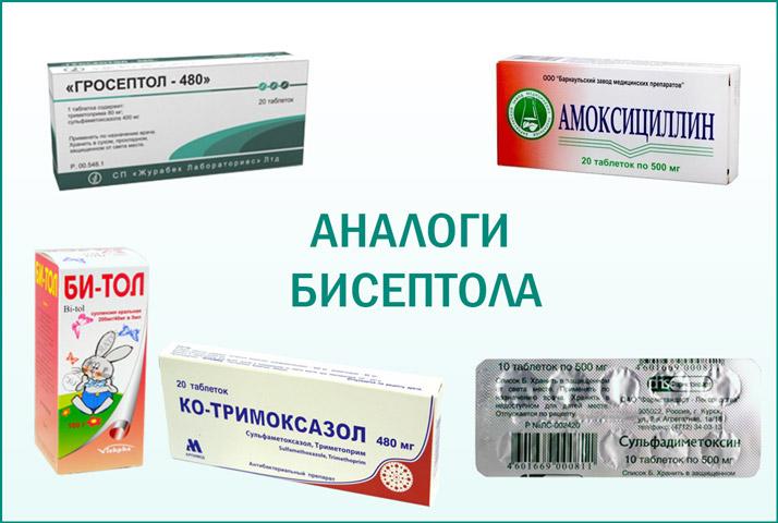 Препараты: аналоги Бисептола