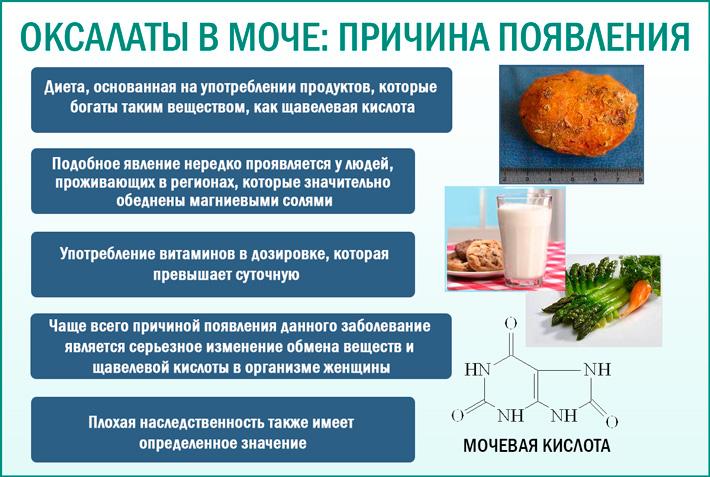 Почему появляются соли оксалаты в моче и что это такое?