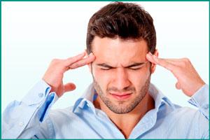 Побочный эффект: мигрень у мужчины