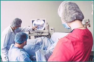 Процедура установки стента беременной