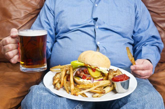 Ожирение вызванное перееданием