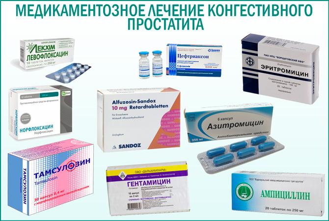 Медикаментозные средства для лечения простатита лечение простатита у мужчин омник