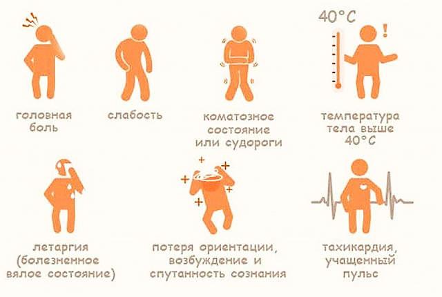Симптомы, признаки теплового удара у детей и взрослых, оказание первой доврачебной помощи