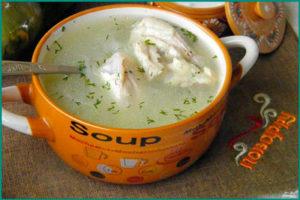 Суп молочный с белокочанной капустой