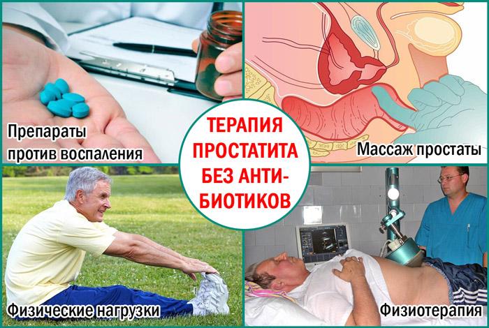 Лечение воспаления простаты без антибиотиков