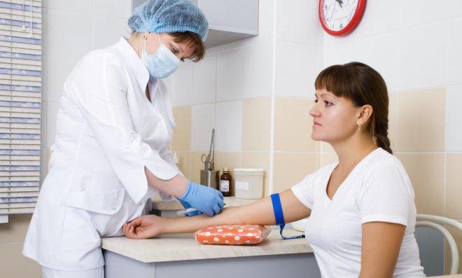 Сдача анализа крови беременным