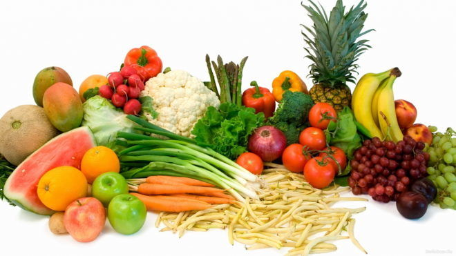 Питание овощи и фрукты