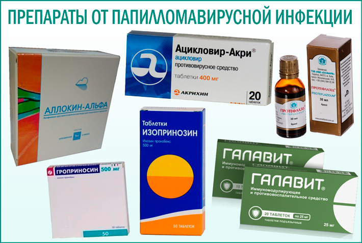 Препараты при лечение впч