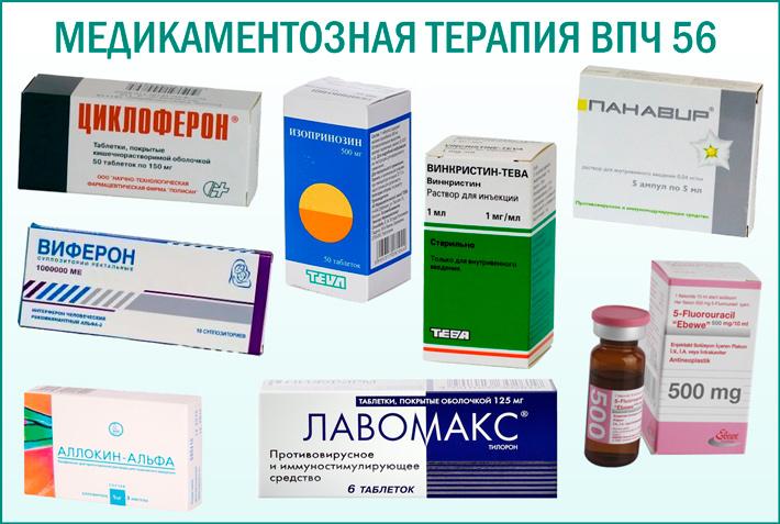 Препараты от ВПЧ 56