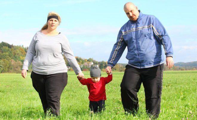 Ожирение у мужчин и женщин