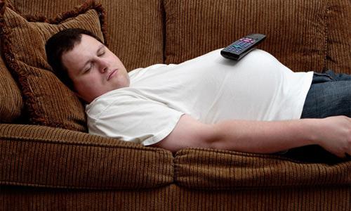 пассивность на диване