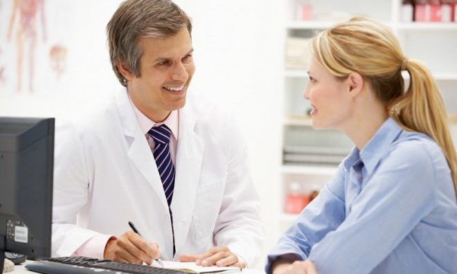 Консультация у врача при мастопатии