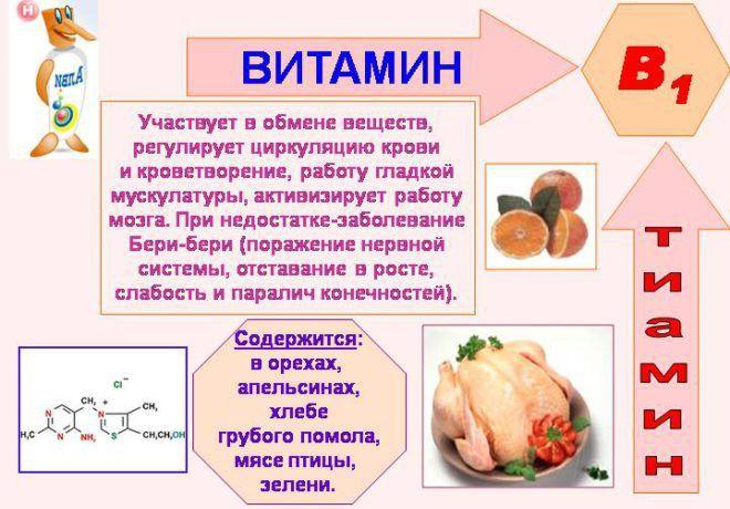 Продукты содержащие витамин B1