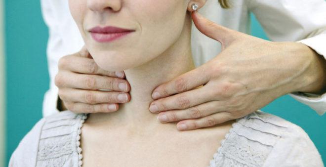 Пальпация щитовидки находясь сзади больного