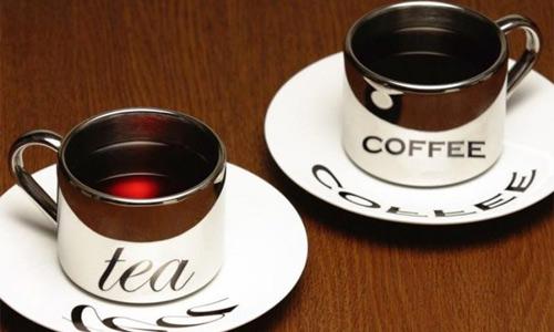 крепкий кофе и чай