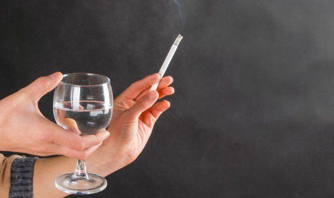Злоупотребление алкоголем и курением
